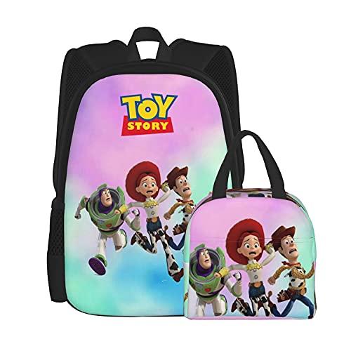 Anime Mochila y caja de almuerzo para hombres y mujeres, durable bolsa de viaje, bolsa de escuela, bolsa de ordenador portátil, bolsa térmica de gran capacidad, bolsa de almuerzo reutilizable