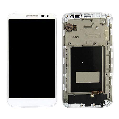 Bjhengxing Reemplazo de Pantalla LCD for LG G2 Mini, reparación de Pantalla Rota, Pantalla LCD + Panel táctil con Marco for LG G2 Mini / D620 / D618 (Negro) (Color : Blanco)