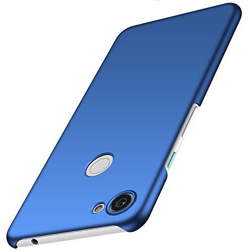 ORNARTO Hülle für Google Pixel 3a,Ultra Dünn Schlank Anti-Scratch FeinMatt Einfach Handyhülle Abdeckung Stoßstange Hardcase für Google Pixel 3a(2019) 5,6 Zoll Blau