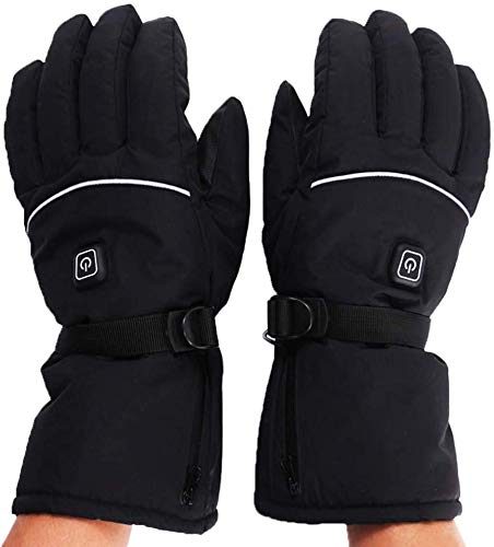 BINORCA Heated Gloves for Men and Women in Winter Warm Three-Level (2 Sets of Batteries 3 AA) Set, Can Touchscreen Driver Motorcycle, Skiing ect, The Best Choice of Winter Gift