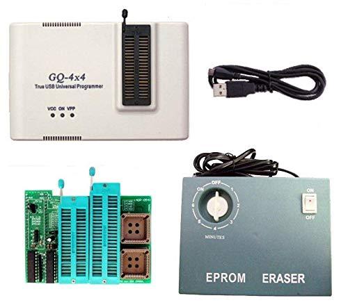 GQ PRG-113 GQ-4X V4 (GQ-4X4) USB-Universal-Programmierer + UV EPROM Radierer + 16 Bit EPROM Adapter unterstützt 28F102 27C400 27C800 27C160 27C322 27C1024 27C2048 27C4096 27c4002 M27C322