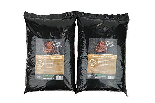 SUPERWURM Spezial Wurmerde, Zuchterde, 6 Liter für - Dendrobena, Würmer, Riesenrotwürmer, Angelköder, Lebendköder, Futterwürmer, Wurmfarm, Tauwürmer