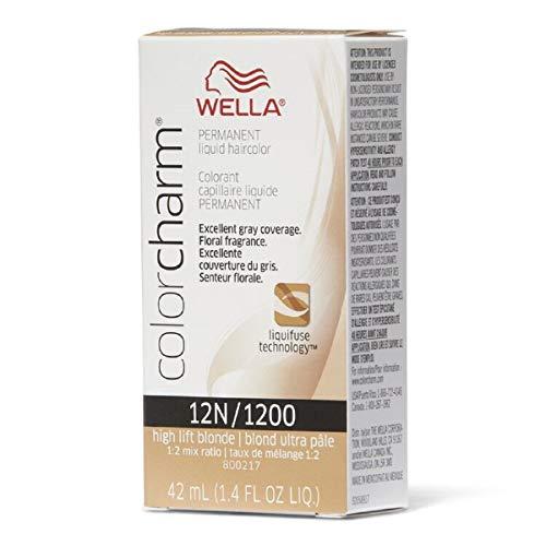 Color Charm Permanent Liquid Hair Color 12N High Lift Blonde, 1.4 oz (42 ml)