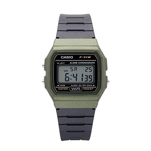 Casio Men's Classic Quartz Watch with Resin Strap, Black, 19.25 (Model: F-91WM-3ACF)