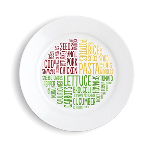 Healthy Portion Plate (Melamine Word)