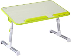 HTDZDX Bed Desk, Foldable 36-Degree Rotating Small Table, Lazy Table, Learning Computer Desk 60cmx33cm (Color : Green)
