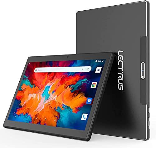 Tablet 10 Pollici, LECTRUS Android 10 Tab, (6000mAh Batteria, 800 * 1280 IPS, Quad-Core 1.6 GHz), 2GB RAM + 32GB ROM, 128GB Espandibili, Fotocamera 2MP+5MP, WIFI, Bluetooth