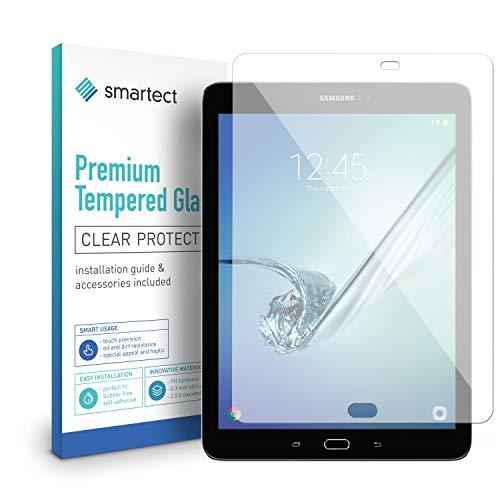 smartect Panzerglas kompatibel mit Samsung Galaxy Tab S2 9.7 (T810, T815, T820, T825) - Displayschutz mit 9H Härte - Blasenfreie Schutzfolie - Anti Fingerprint Panzerglasfolie