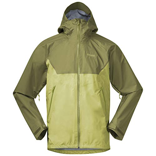 Bergans Letto V2 3L M Jacket Colorblock-Green Dermizax - Chubasquero para hombre, talla XL, color verde oasis