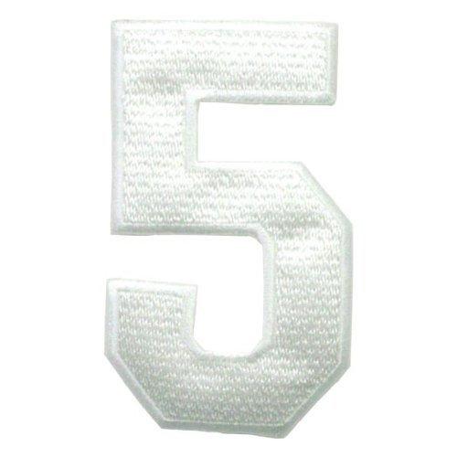 (ゼッケン) ナンバーワッペン「5」 Bigサイズ