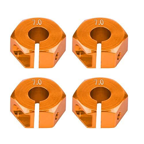 Dilwe Rad-Sechskant-Adapter, 12mm Universal-Rad-Sechskant-Adapter für HSP Sakura 1/10 RC Auto(7 mm / 0,28 Zoll- Gold)