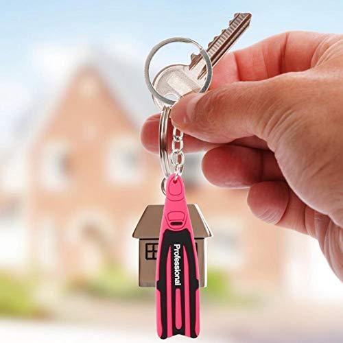 Llavero Forma de aleta Ligero De alta calidad, para uso diario Organiza las llaves(Pink)