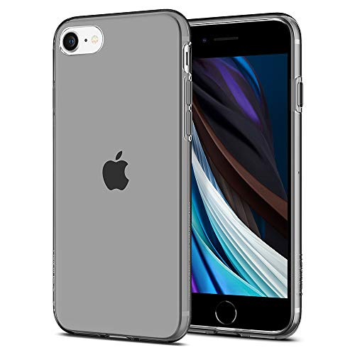Spigen Liquid Crystal Kompatibel mit iPhone SE 2020 Hülle, iPhone 8/7 Hülle Semi Transparent TPU Silikon Schutzhülle Case Space Crystal 042CS20846