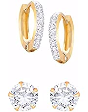KARMAAH White Ad American Diamond Drop Earrings Jewellery For Women & Girls Alloy Earring Set