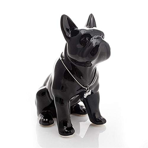 TYUJHG Sculpture Figurine Statues and Figurines French Bulldog Ceramic Dog Porcelain Animal Figurines Room Decoration Wedding Gifts