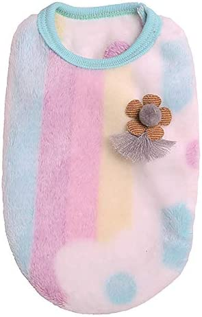 Letdown Pet Winter Vest Dog Puppy Cat Stripes Sweater Soft Comfortable Coats for Teacup Dogs product image