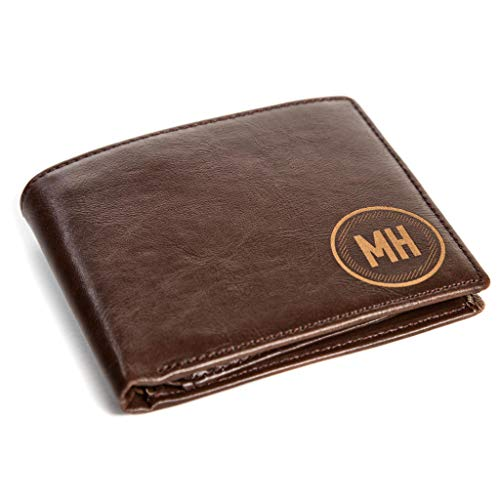 Leather Wallet With Personalized Initials Embossing