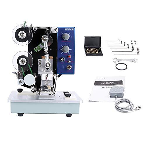 Impresora de Cinta eléctrica, Impresora de estampación en Caliente Máquina codificación de Fecha de Cinta térmica para impresoras Códigos de Fecha de producción Número Codificadores de Letras