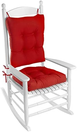 Best Klear Vu Indoor/Outdoor Rocking Chair Pad Set, 20.5 x 19 x 3 inches, Red