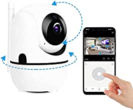 Suertree Baby Monitor with Camera and Audio, WiFi Wireless Security Camera Indoor 1080p, Dog Pet Nanny Surveillance Cell Phone APP, 2-Way Audio Cam, Night Vision Motion Detection, Cloud Local Storage