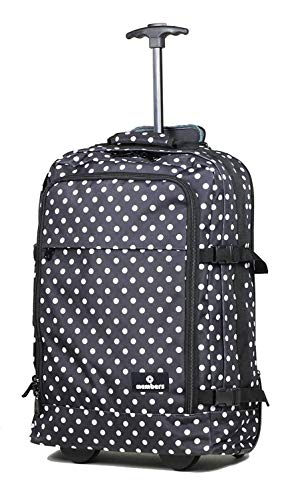 Members Essential on-board zaino da viaggio su ruote nero Black with White Polka Dots Cabin