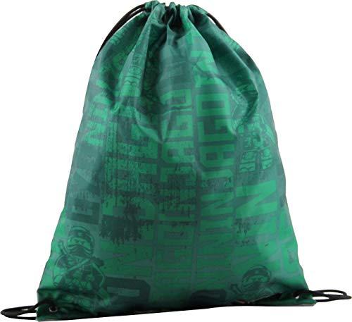 LEGO Bags Jungen Bolsa de deporte con cordón, mochila escolar con diseño de Lego Ninjago, Ninjago Energy. (Verde) - 400806355