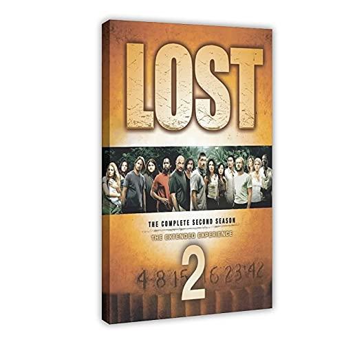 Poster su tela, serie TV drammatica Lost Season 2 (1), decorazione da parete per soggiorno, camera da letto, 40 x 60 cm, cornice: 1