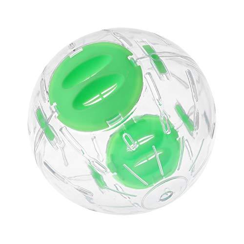 QJJ Hamster Correr Ejercicio Rueda Bola Pequeño Pet Chinchilla Rata Ratones Play Toy Juguete Suministros (Color : Green, Size : A)