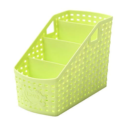 Emorias 1 Stück Kosmetik Schreibtisch-Organizer Stiftehalter Utensilien Aufbewahrungsbox Badschrank Bett 17 * 9.5 * 13cm Grün S
