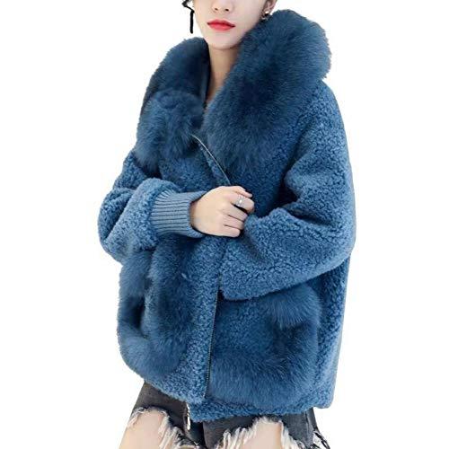 NQSB Kunstpelzmantel Frauen Casual Pelzigen Dicke Warme Kurze Kunstlammfell Jacke Mode Lose Wintermantel Frauen Teddy Mantel