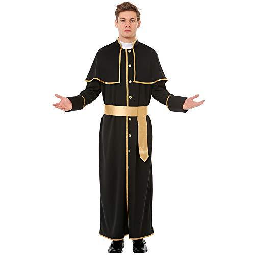 Heavenly Father Men's Halloween Costume - Priest Gospel Preacher Outfit (XX-Large)