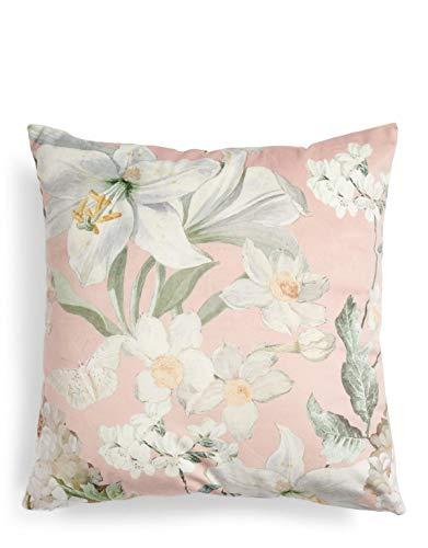 ESSENZA Dekokissen Quadratisch Rosalee Blumen Polyester Rosa, 50x50 cm