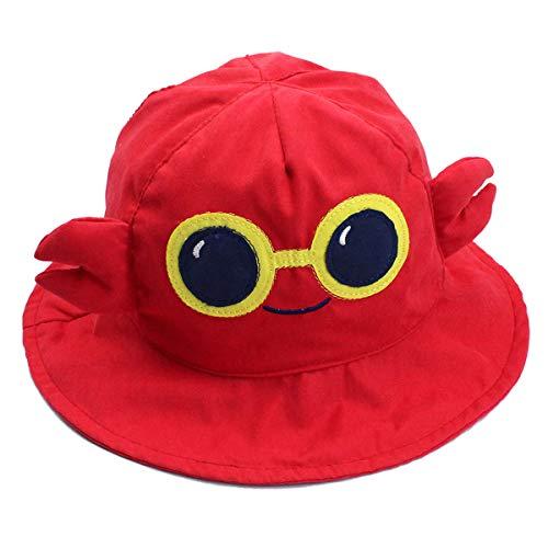 Happy Cherry - Sombrero Infantil de Verano para Bebés Niños Niñas Gorro con ala Protección de Sol Formado de Animal Lindo para Playa Viaje - Cangrejo - 48CM/6-12Meses