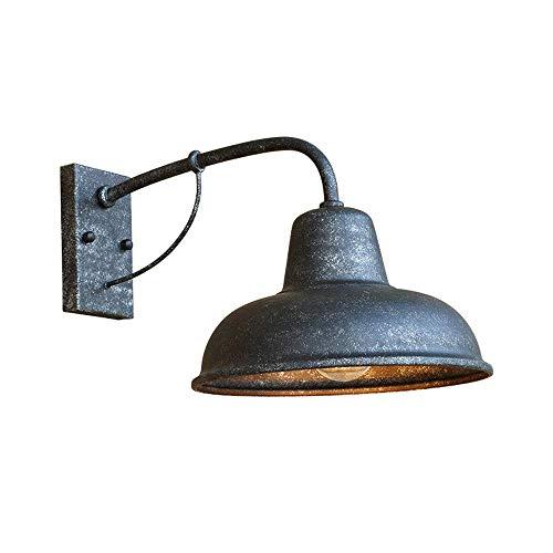 E27 Hierro forjado Lámpara de pared vintage Metal industrial Europeo Retro Apliques interiores Iluminación Pantalla Aspecto antiguo Luminaria rústica Impermeable para sala de estar Escalera