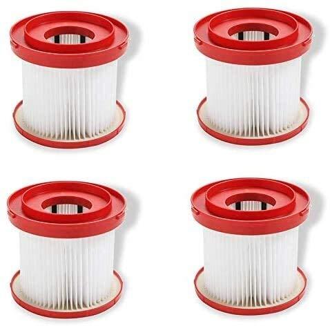 NICERE 4 piezas de repuesto para aspiradoras HEPA Wet Dry Filtro de vacío compatible con Milwaukee 49-90-1900. Diseñado para M18 2 galones de vacío húmedo/seco modelo 0880-20