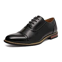 DREAM PAIRS BrunoMarcModaItaly Prince Men's Classic Modern Oxford Wingtip Lace Dress Shoes