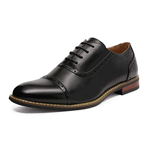 Bruno HOMME MODA ITALY PRINCE Men's Classic Modern Oxford Wingtip Lace Dress Shoes,PRINCE-5-BLACK,12 - http://coolthings.us