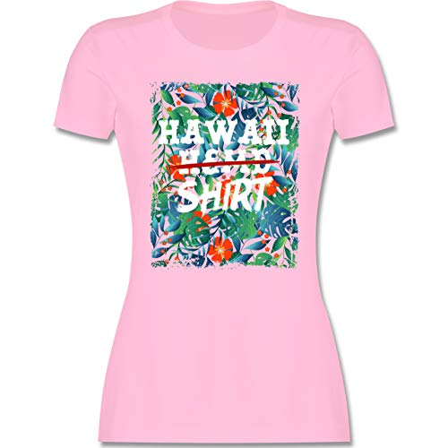 Karneval & Fasching - Hawaii Hemd Shirt - M - Rosa - t Shirt Hawaii Damen - L191 - Tailliertes Tshirt für Damen und Frauen T-Shirt