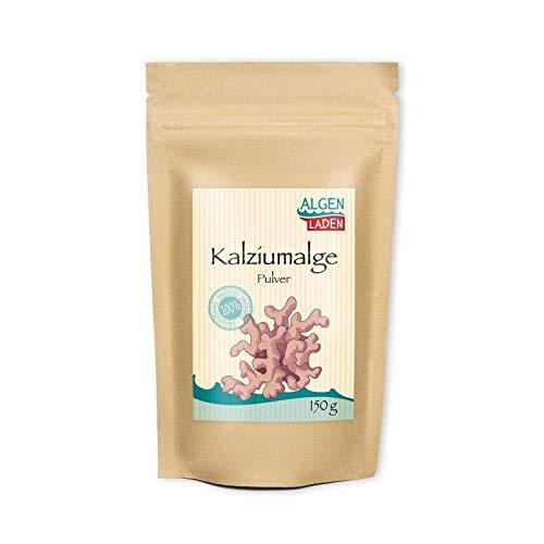ALGENLADEN Kalziumalge Pulver - 150g | reich an Kalzium | hohe Qualität | sehr fein gemahlen | geeignet für Hafermilch