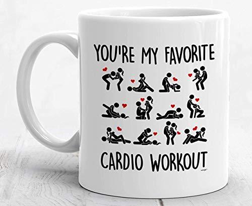 N\A Eres mi Taza Favorita de Ejercicios cardiovasculares Novio Novia Marido Esposa Regalo Aniversario Travieso Posición Sexual Sexo Gracioso San Valentín para él- Taza de café
