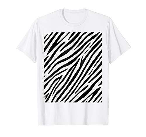 Zebra Print - Simple Easy Halloween Costume Idea - Tee Shirt