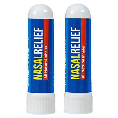 Aromatherapy Nasal Congestion Inhaler 2-Pack by Basic Vigor