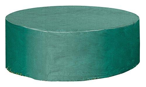 Royal Gardineer Abdeckung Sonneninsel: Gewebe-Abdeckplane für Gartentisch & Sonneninsel, 250 x 90 cm (Ø x H) (Sonneninsel Abdeckung wasserdicht)