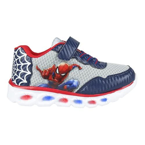 CERDÁ LIFE'S LITTLE MOMENTS Cerdá-Zapatillas LED Spiderman de Color Azul, Gris Perla, 31 EU