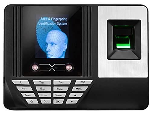AERJMA Reloj biométrico de Huellas Dactilares, Cara y contraseña Reconocimiento de la contraseña Máquina de Reloj de Terminal de Terminal Color de Alta definición Pantalla