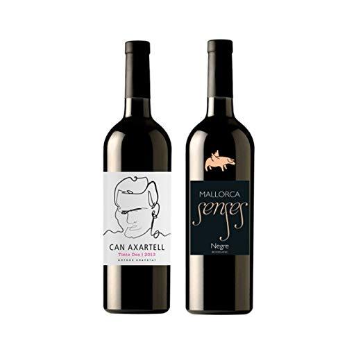 CAN AXARTELL und MALLORCA SENSES 2er Probierpaket Bio Rotwein *TINTO DOS* und *NEGRE* Mallorca, Spanien - Rotwein trocken (2 x 0,75l) Literpreis (16,67 €/l)