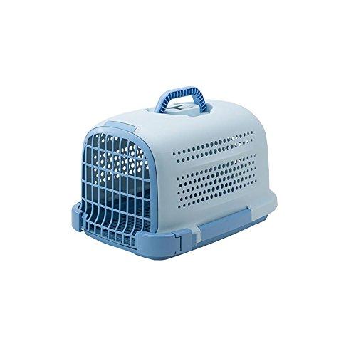 WX-WX48 WW-XX Portable FS-802 Conception Respirante Poreuse Chats Et Chiens Forfait Animal Pet Carrier Sacs De Voyage Grand Espace Glissement De Fond (Couleur : Bleu)
