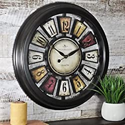 Satoru GJ FirsTime 10023 Numeral Plaques Wall Clock, 1 Piece