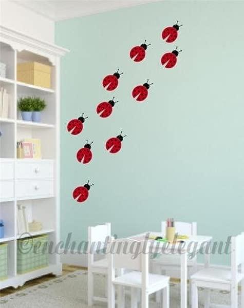 Lady Bugs Vinyl Decal Wall Stickers Baby Nursery Room Wall Art Decor