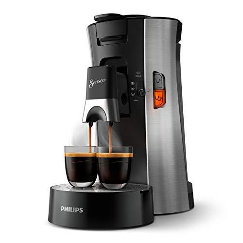 Philips Senseo Select CSA250/10 ekspres do kawy na saszetki – wybór mocy kawy, funkcja memo, z tworzywa sztucznego pochodzącego z recyklingu, szczotkowana stal